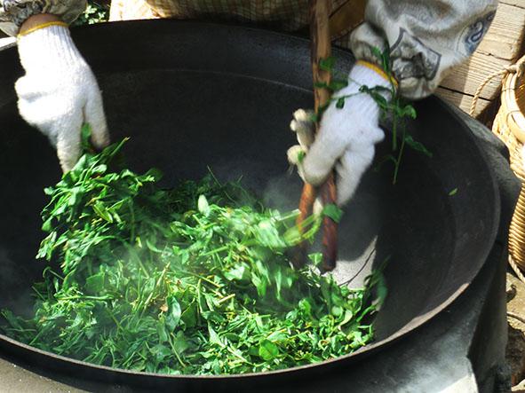 котёл кама для обжарки чая