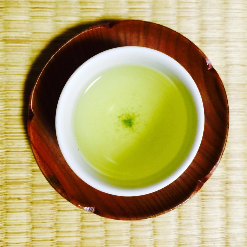 японский зелёный чай сенча с сакурой