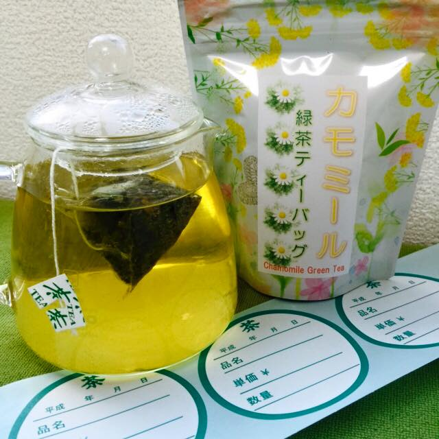 green tea with chamomile Japan